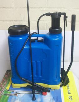 4 Gallon Lawn and Garden Backpack Sprayer Hand Pump Weed Kil