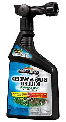 Spectracide Bug and Weed Killer for Lawns Ready to Spray, 32