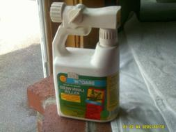 hose end ready to spray lawn weed