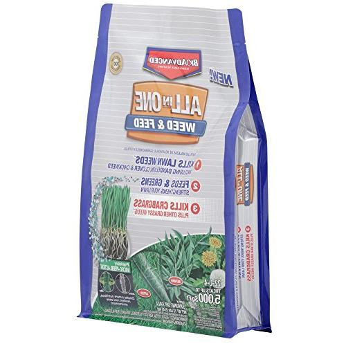 BioAdvanced Weed Feed with Action, 12 Lb, 5000 ft. White