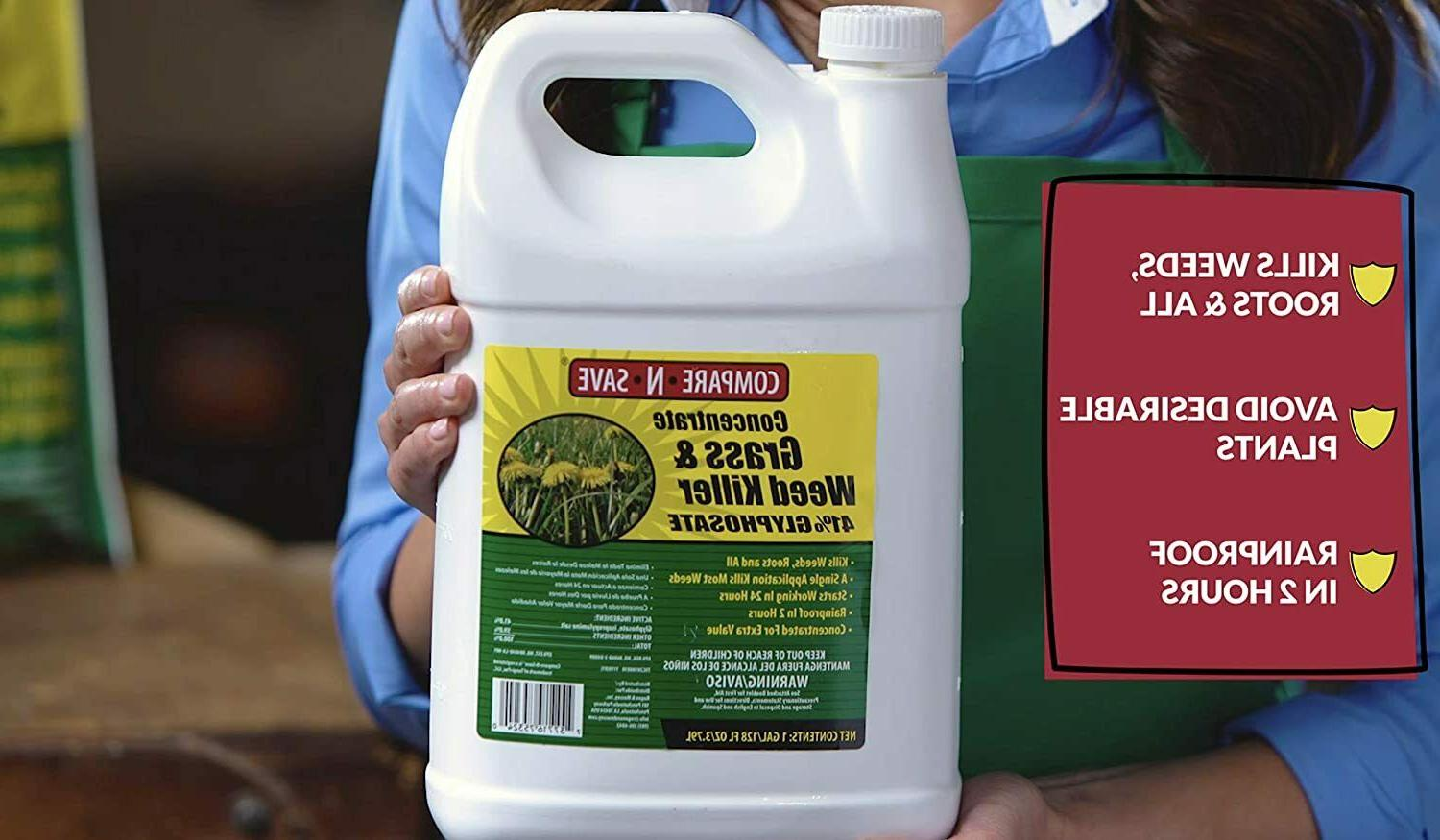 Compare-N-Save 016869 Grass and Weed Killer, 41-Percent Glyphosate