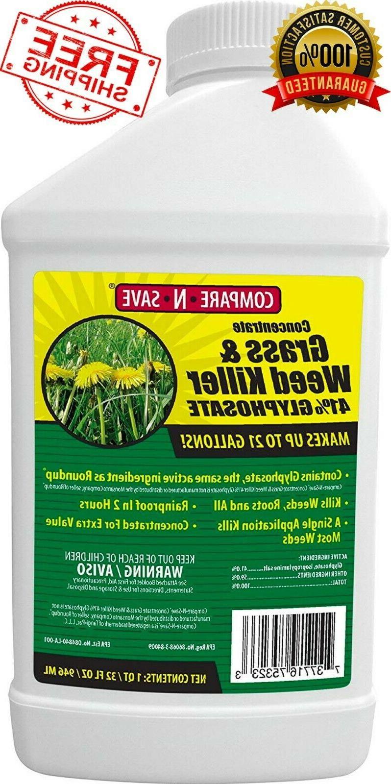 Concentrate Grass & Weed Killer 41-Percent Glyphosate 32 FL