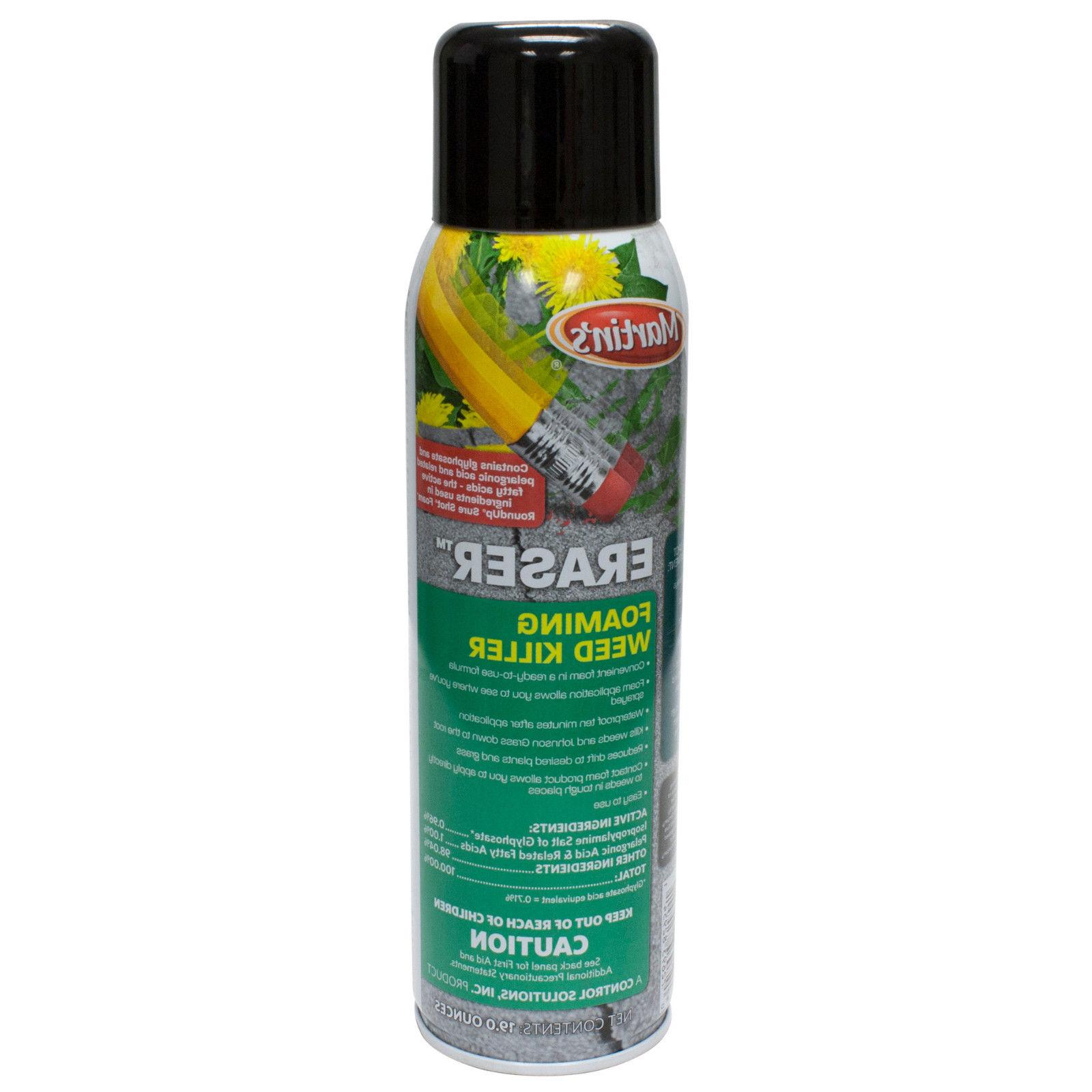 ERASER Foaming Weed 19 oz Glyphosate Kills All &