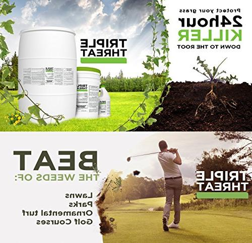 Triple Threat Weed Killer Herbicide and - Gallon