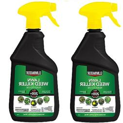 Lot of 2 Eliminator Lawn Weed Killer Ready To Use 24 oz. Kil