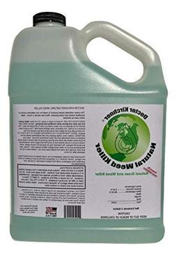 Natural Weed Killer Made with Ocean Water and Commercial Foo
