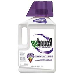 Roundup Weed and Grass Super Concentrate Killer , 1/2 gallon