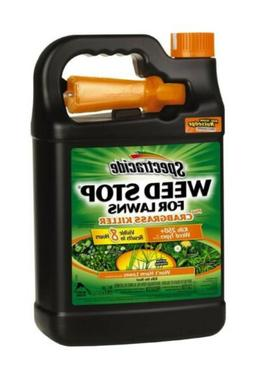 Spectracide Weed Stop for Lawns 1-Gal Weed Killer Plus Crabg